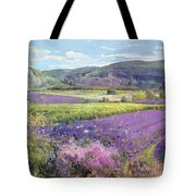 Lavender Fields In Old Provence Tote Bag by Timothy Easton