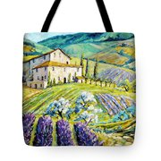 Lavender Hills Tuscany By Prankearts Fine Arts Tote Bag by Richard T Pranke