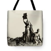 Law Prosperity and Power in Black and White Tote Bag by Bill Cannon