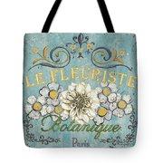 Le Fleuriste de Bontanique Tote Bag by Debbie DeWitt