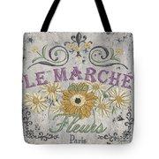 Le Marche Aux Fleurs 1 Tote Bag by Debbie DeWitt