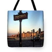 Le Metro At Dusk Tote Bag by Kathy Yates