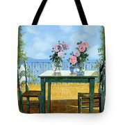 Le Rose E Il Balcone Tote Bag by Guido Borelli