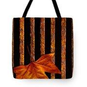 Leaf In Drain Tote Bag by Carlos Caetano