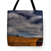 Leaving The Shed Tote Bag by David Patterson