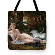 Leda and the Swan Tote Bag by Francois Edouard Picot