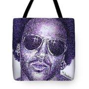 Lenny Kravitz Tote Bag by Maria Arango