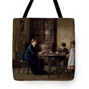 Lessons Tote Bag by Helen Allingham