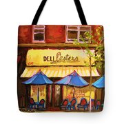 Lesters Cafe Tote Bag by Carole Spandau