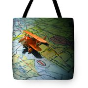 Let's Take a Trip Tote Bag by ADAM VANCE