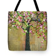 Lexicon Tree Of Life 4 Tote Bag by Blenda Studio
