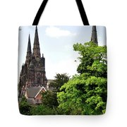 Lichfield Cathedral From Minster Pool Tote Bag by Rod Johnson