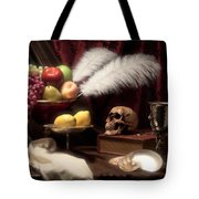 Life And Death In Still Life Tote Bag by Tom Mc Nemar