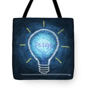 Light Bulb Design Tote Bag by Setsiri Silapasuwanchai