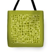 Light Green Abstract Tote Bag by Frank Tschakert