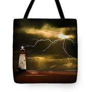 Lightning Storm Tote Bag by Meirion Matthias