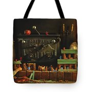 Lincoln Logs Tote Bag by Greg Olsen