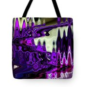 Lining Up At Heavens Gate Tote Bag by Lenore Senior