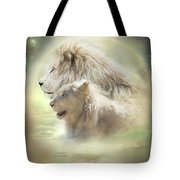 Lion Moon Tote Bag by Carol Cavalaris
