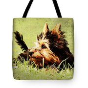 Little Dog Tote Bag by Angela Doelling AD DESIGN Photo and PhotoArt
