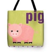 Little Pig Tote Bag by Linda Woods