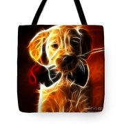 Little Puppy In Love Tote Bag by Pamela Johnson