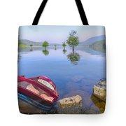 Little Rowboat Tote Bag by Debra and Dave Vanderlaan