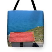 Little Shack At The Point Reyes Lighthouse in California . 7D16020 Tote Bag by Wingsdomain Art and Photography