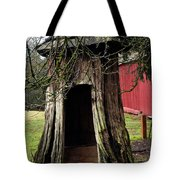 Loggers Outhouse Tote Bag by Clayton Bruster