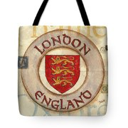London Coat Of Arms Tote Bag by Debbie DeWitt