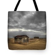 Lonely Beach Shacks Tote Bag by Evelina Kremsdorf