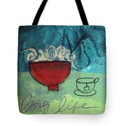 Long Life Noodles Tote Bag by Linda Woods