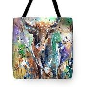 Longhorn Steer Tote Bag by Arline Wagner