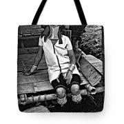 Longneck Beauty Bw Tote Bag by Steve Harrington
