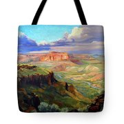 Look Out At White Rock Tote Bag by Nancy Paris Pruden
