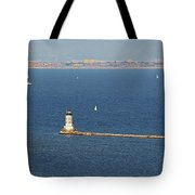 Los Angeles Harbor Light - Angel's Gate - California Tote Bag by Christine Till