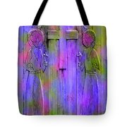 Los Santos Cuates - The Twin Saints Tote Bag by Kurt Van Wagner