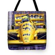 Lotus 99t Spa 1987 Ayrton Senna Tote Bag by Yuriy  Shevchuk