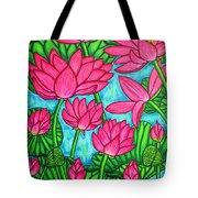 Lotus Bliss Tote Bag by Lisa  Lorenz