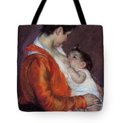 Louise Nursing Her Child Tote Bag by Marry Cassatt