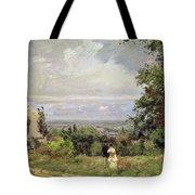 Louveciennes Tote Bag by Camille Pissarro