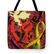Love and Liberty Tote Bag by Kevin J Cooper Artwork