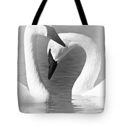 Love In Black And White Tote Bag by Larry Ricker