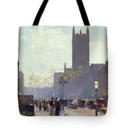 Lower Fifth Avenue Tote Bag by Childe Hassam