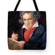 Ludwig Van Beethoven Composing His Missa Solemnis Tote Bag by Joseph Carl Stieler