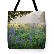 Lupine Field Tote Bag by Susan Cole Kelly