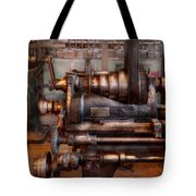 Machinist - Steampunk - 5 Speed Semi Automatic Tote Bag by Mike Savad