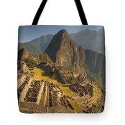 Machu Picchu At Dawn Near Cuzco Peru Tote Bag by Colin Monteath