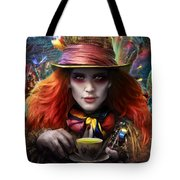 Mad As A Hatter Tote Bag by Omri Koresh