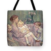Madame Van De Velde And Her Children Tote Bag by Theo van Rysselberghe